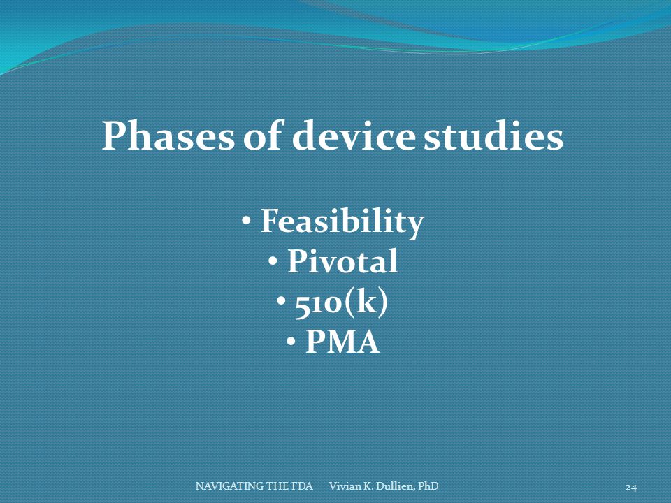 Phases of device studies