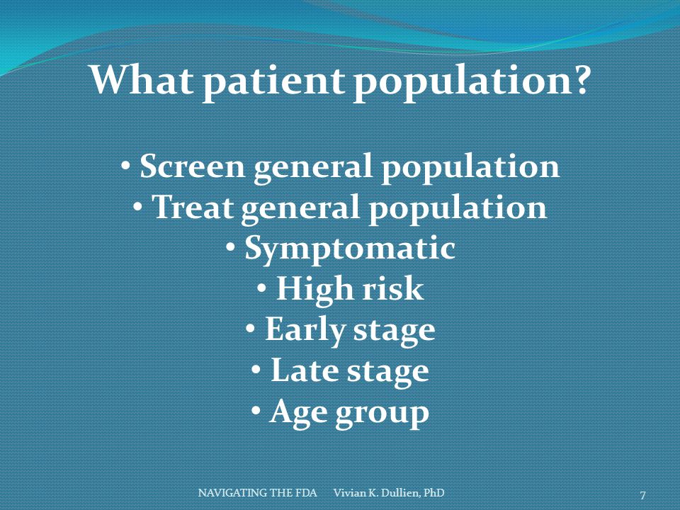 What patient population