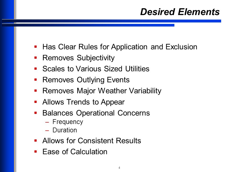Desired Elements Has Clear Rules for Application and Exclusion