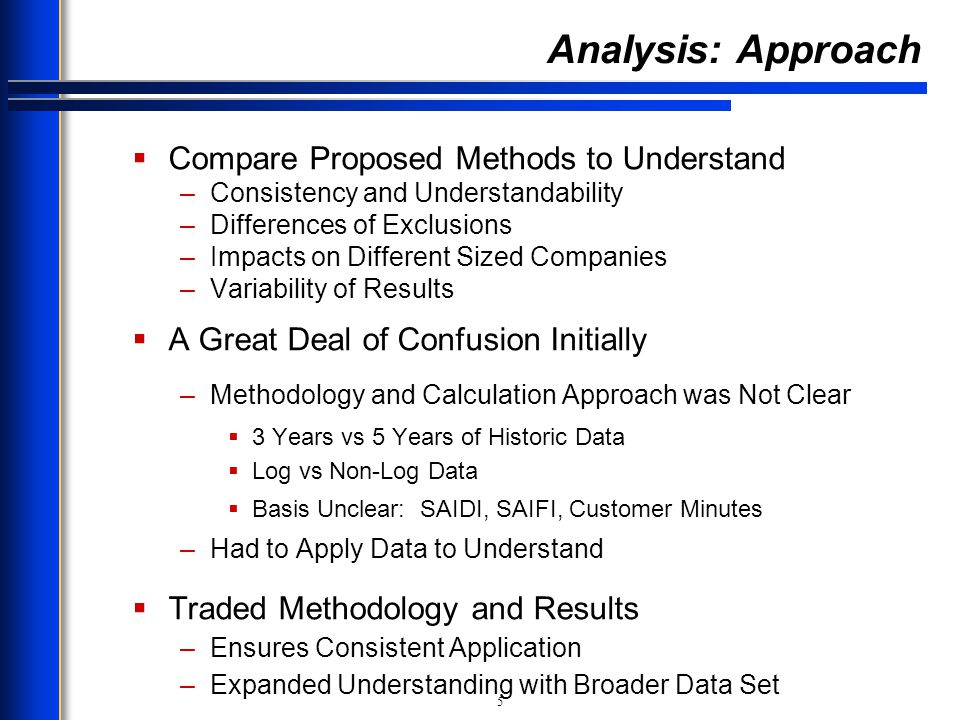 Analysis: Approach Compare Proposed Methods to Understand