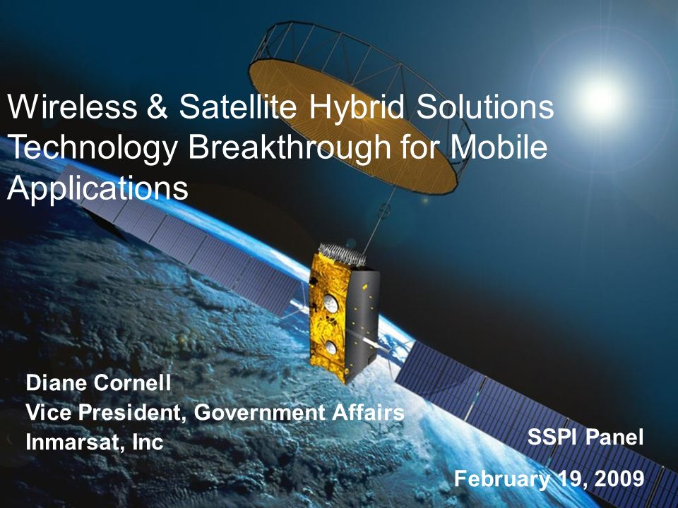 Wireless & Satellite Hybrid Solutions Technology Breakthrough for Mobile Applications
