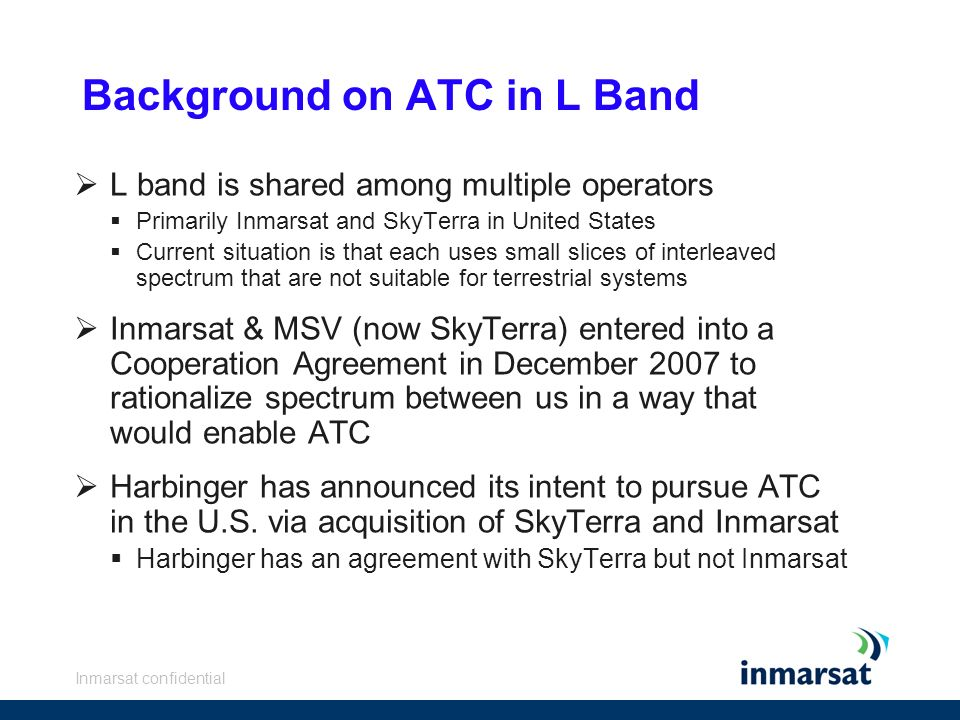 Background on ATC in L Band