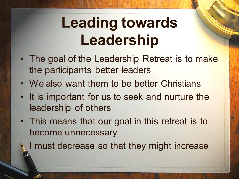 Leading towards Leadership