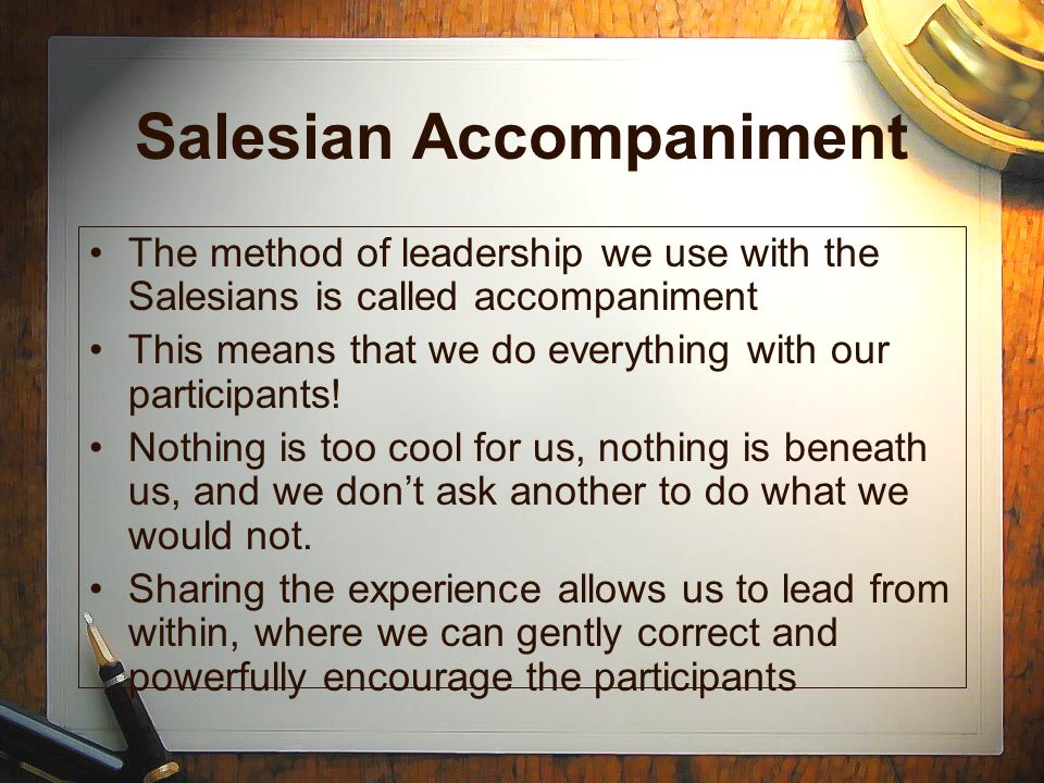 Salesian Accompaniment