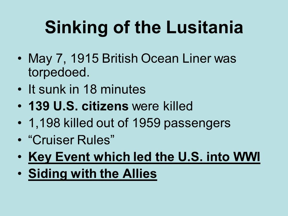 Sinking of the Lusitania