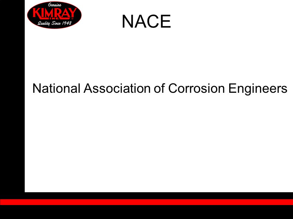 NACE National Association of Corrosion Engineers