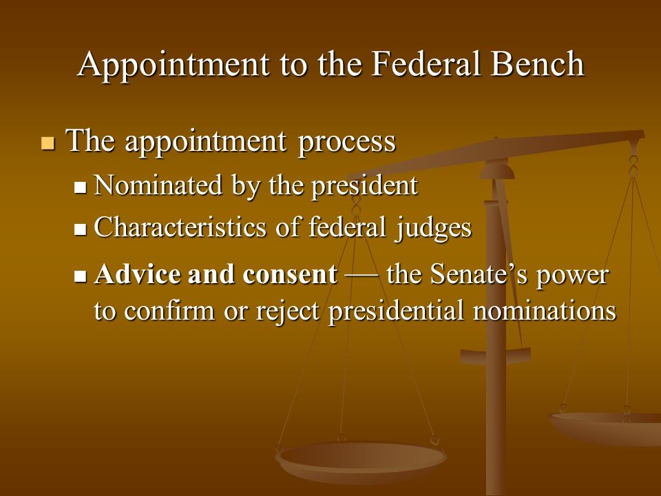 Appointment to the Federal Bench