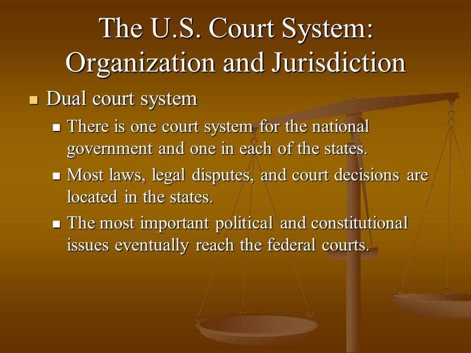 The U.S. Court System: Organization and Jurisdiction