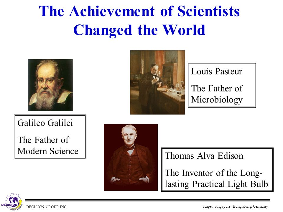 The Achievement of Scientists Changed the World