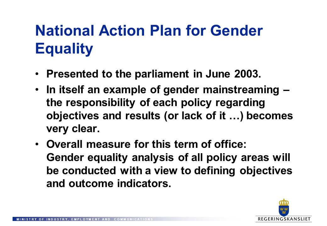 National Action Plan for Gender Equality