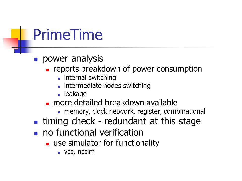 PrimeTime power analysis timing check - redundant at this stage