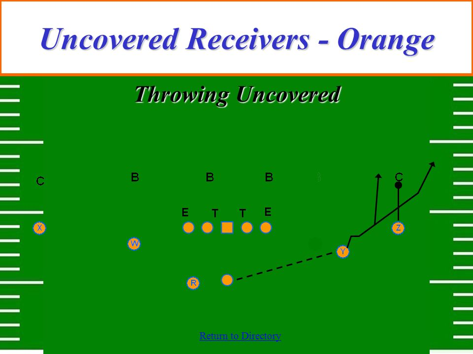 Uncovered Receivers - Orange