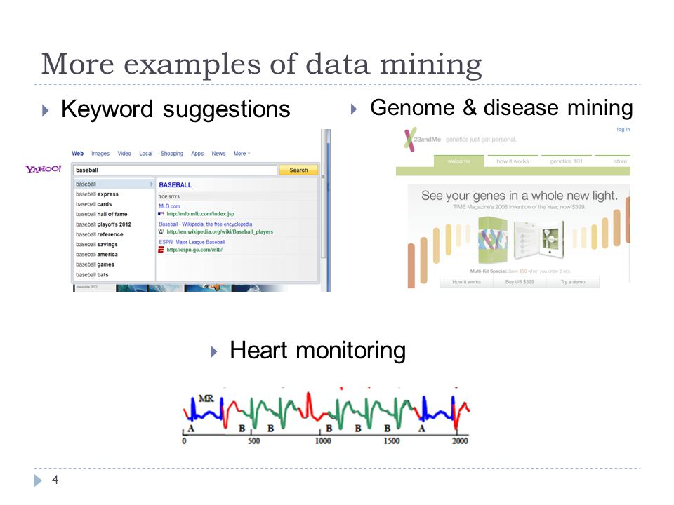 More examples of data mining