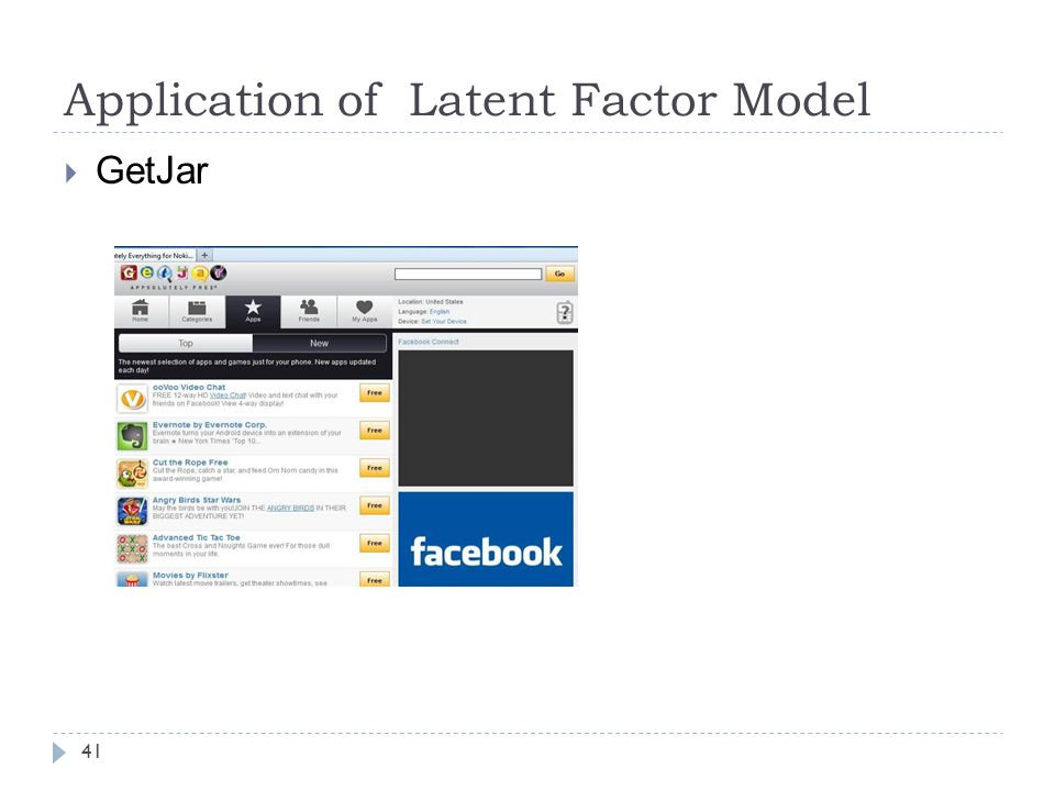 Application of Latent Factor Model