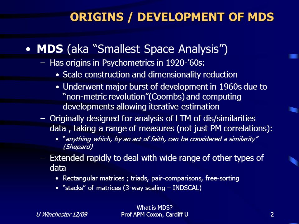 What Is Mds >> What Is Multidimensional Scaling Mds Ppt Video Online