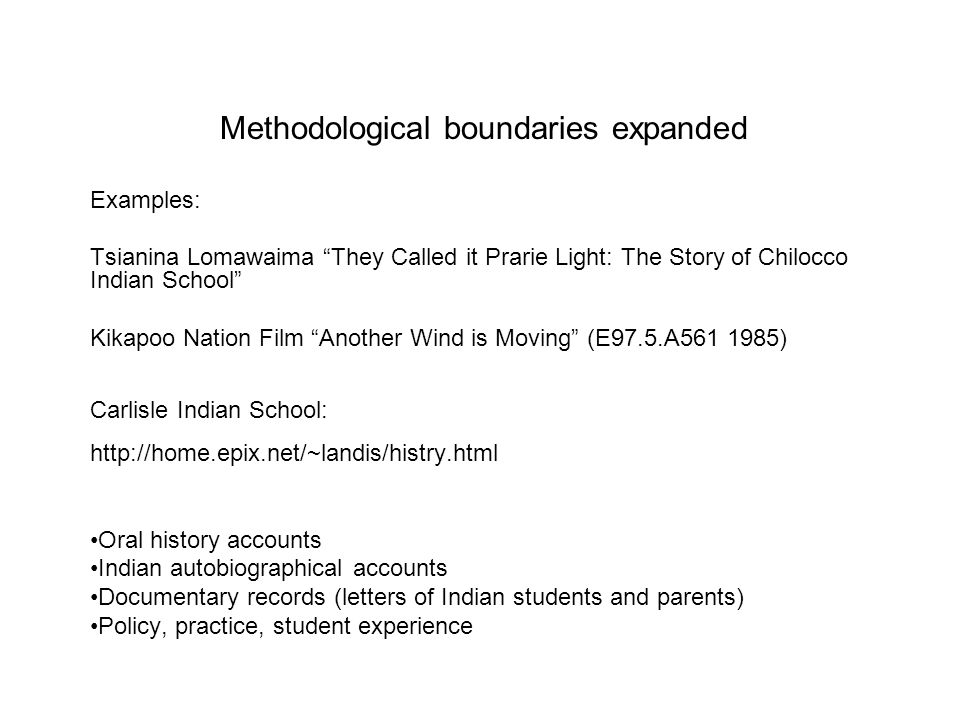 Methodological boundaries expanded