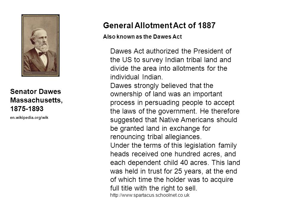 General Allotment Act of 1887