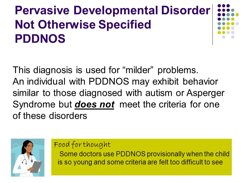 Pervasive Developmental Disorder Not Otherwise Specified PDDNOS