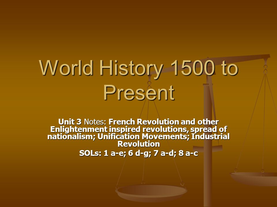 World History 1500 to Present