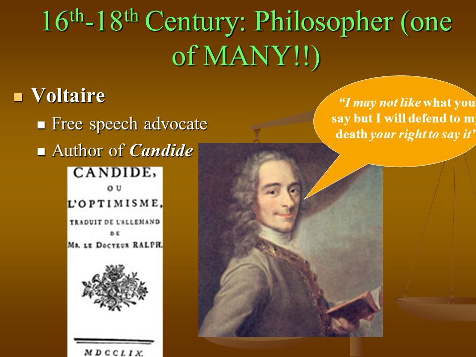 16th-18th Century: Philosopher (one of MANY!!)