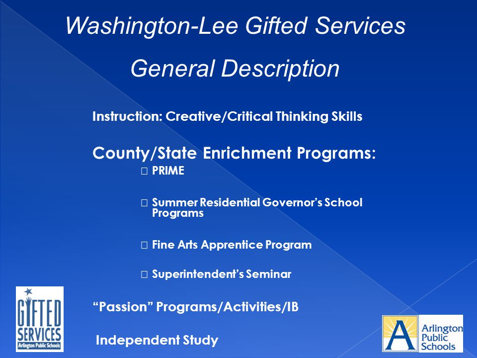 Washington-Lee Gifted Services