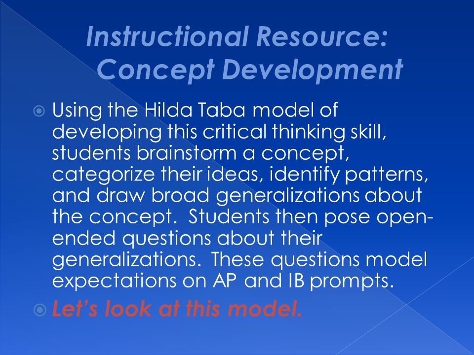 Instructional Resource: Concept Development