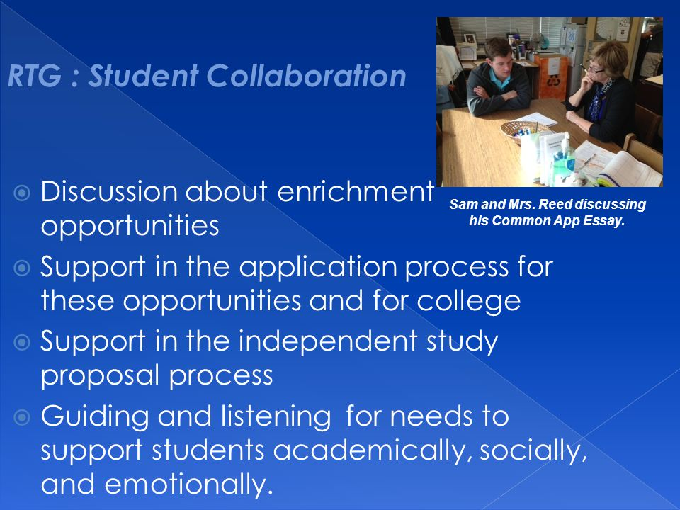 RTG : Student Collaboration
