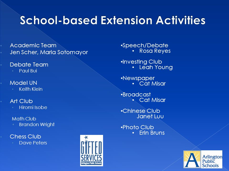 School-based Extension Activities