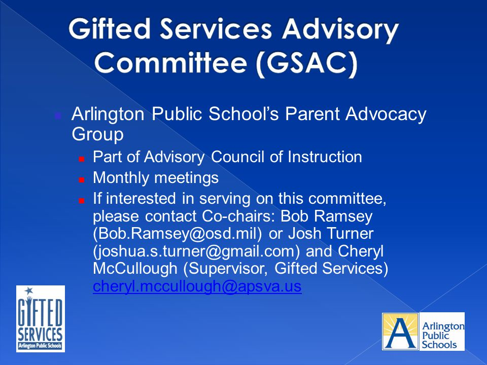 Gifted Services Advisory Committee (GSAC)