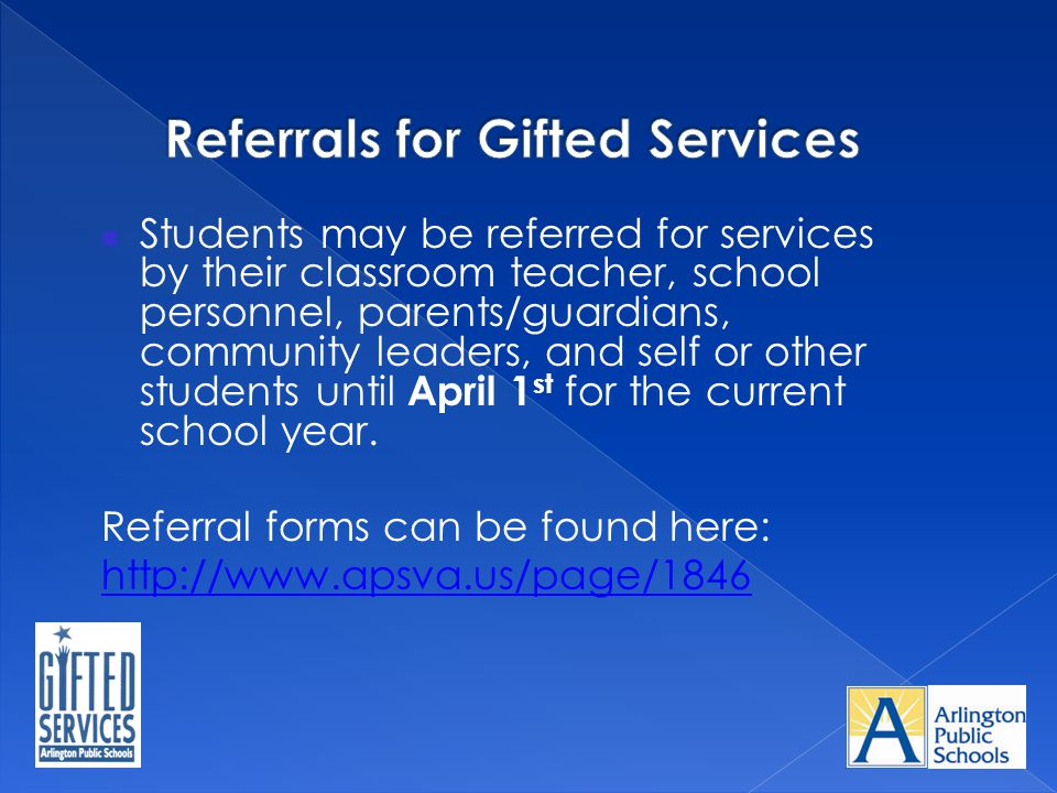 Referrals for Gifted Services