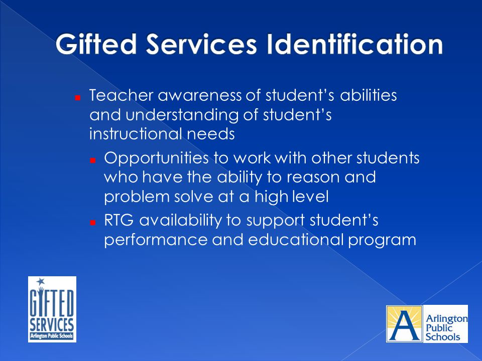 Gifted Services Identification
