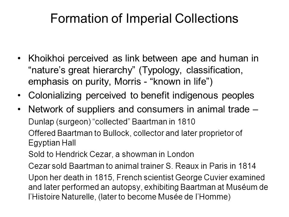 Formation of Imperial Collections