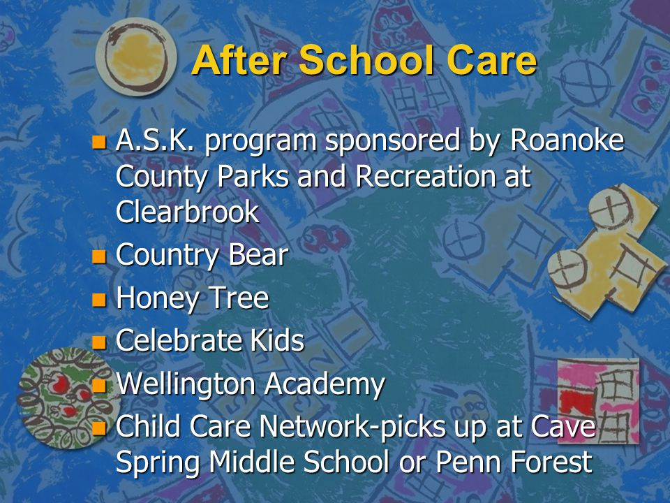 After School Care A.S.K. program sponsored by Roanoke County Parks and Recreation at Clearbrook. Country Bear.