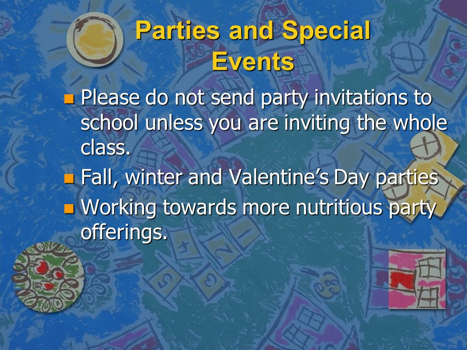Parties and Special Events