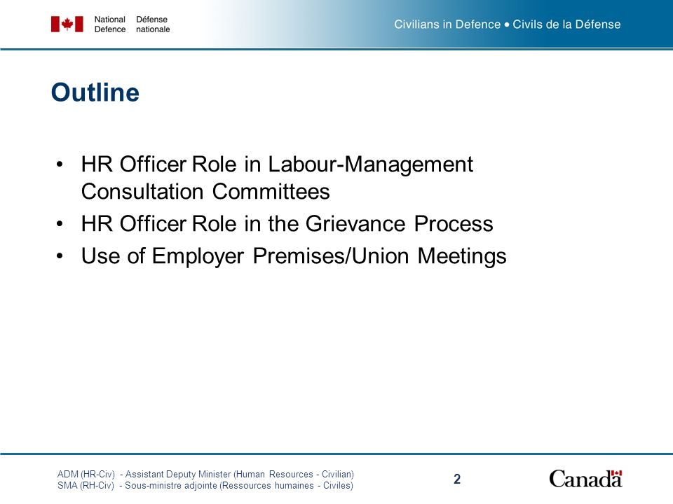 Outline HR Officer Role in Labour-Management Consultation Committees
