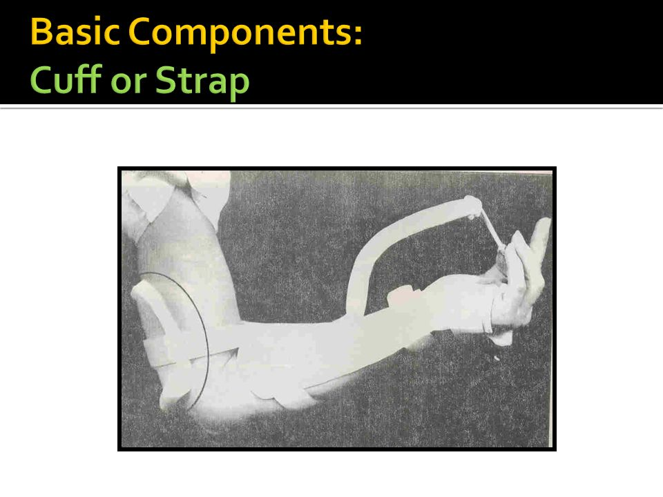 Basic Components: Cuff or Strap