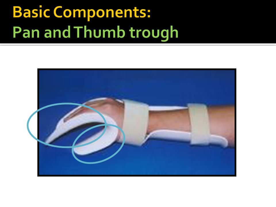 Basic Components: Pan and Thumb trough