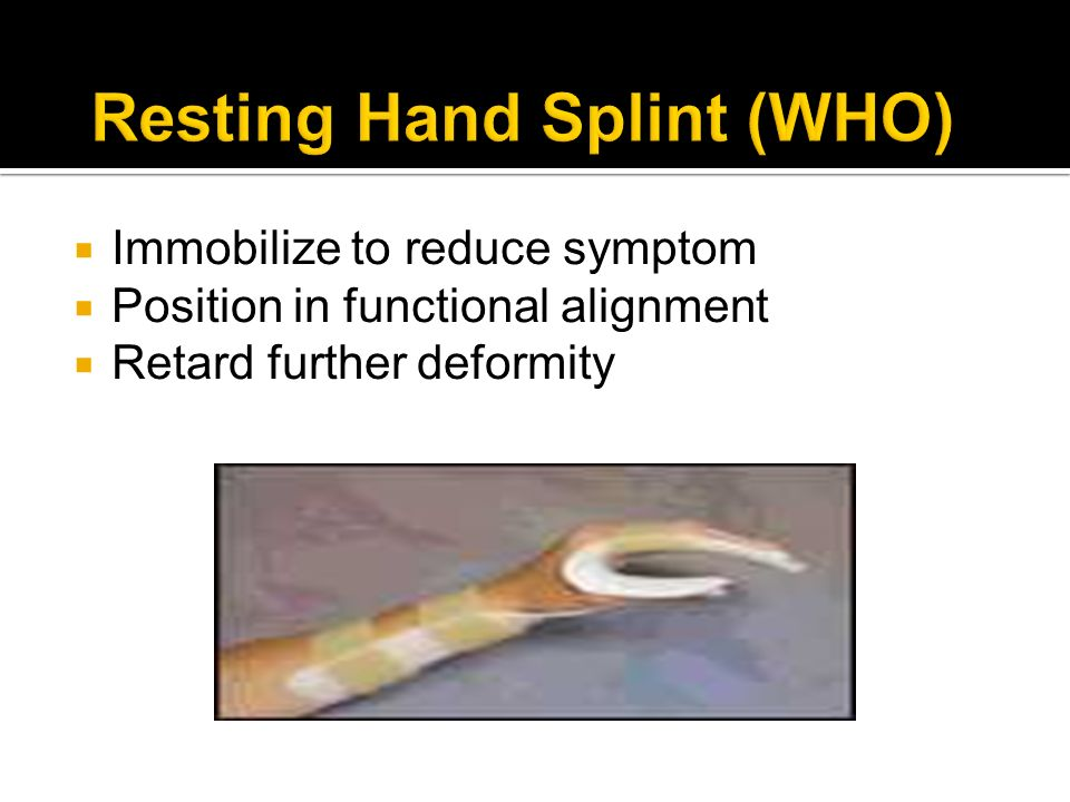 Resting Hand Splint (WHO)