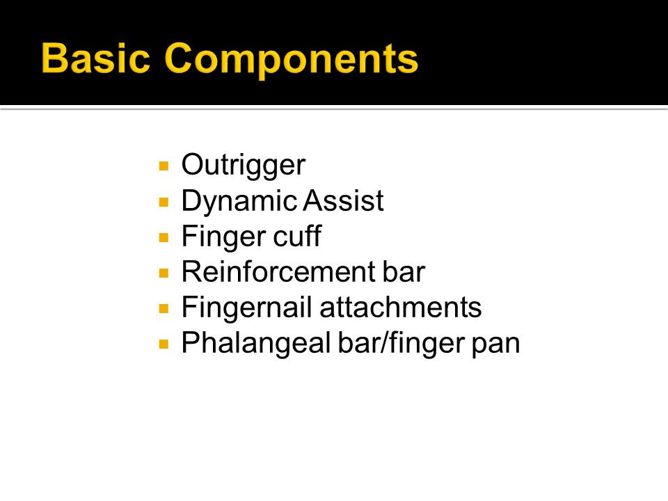 Basic Components Outrigger Dynamic Assist Finger cuff