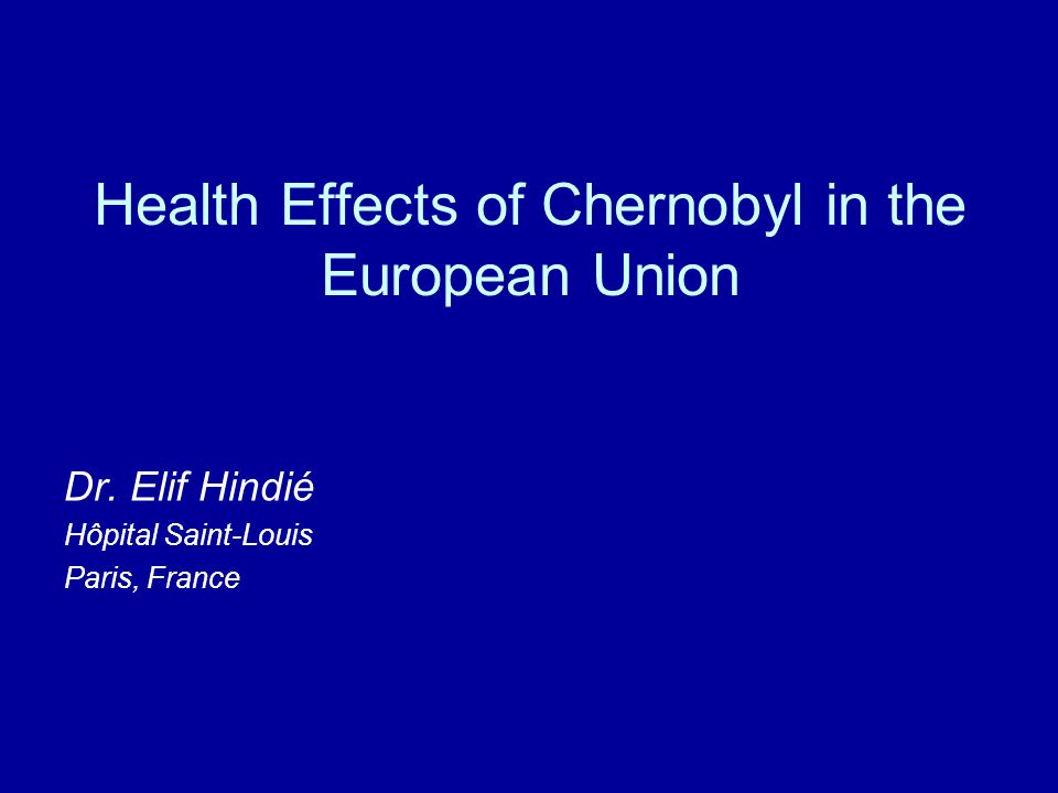 Health Effects of Chernobyl in the European Union
