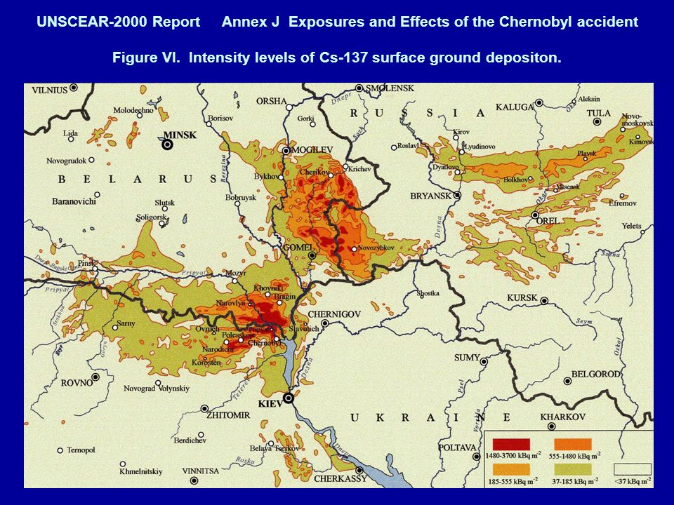 UNSCEAR-2000 Report Annex J Exposures and Effects of the Chernobyl accident Figure VI.