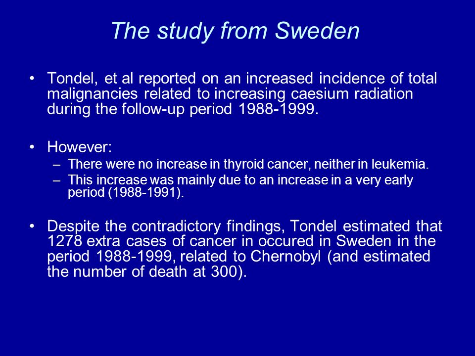 The study from Sweden