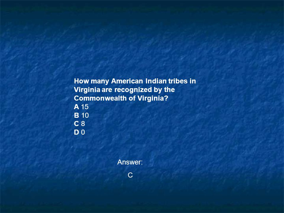How many American Indian tribes in Virginia are recognized by the