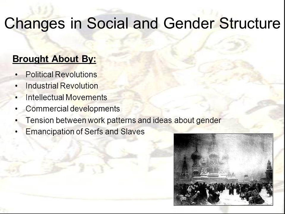 Changes in Social and Gender Structure