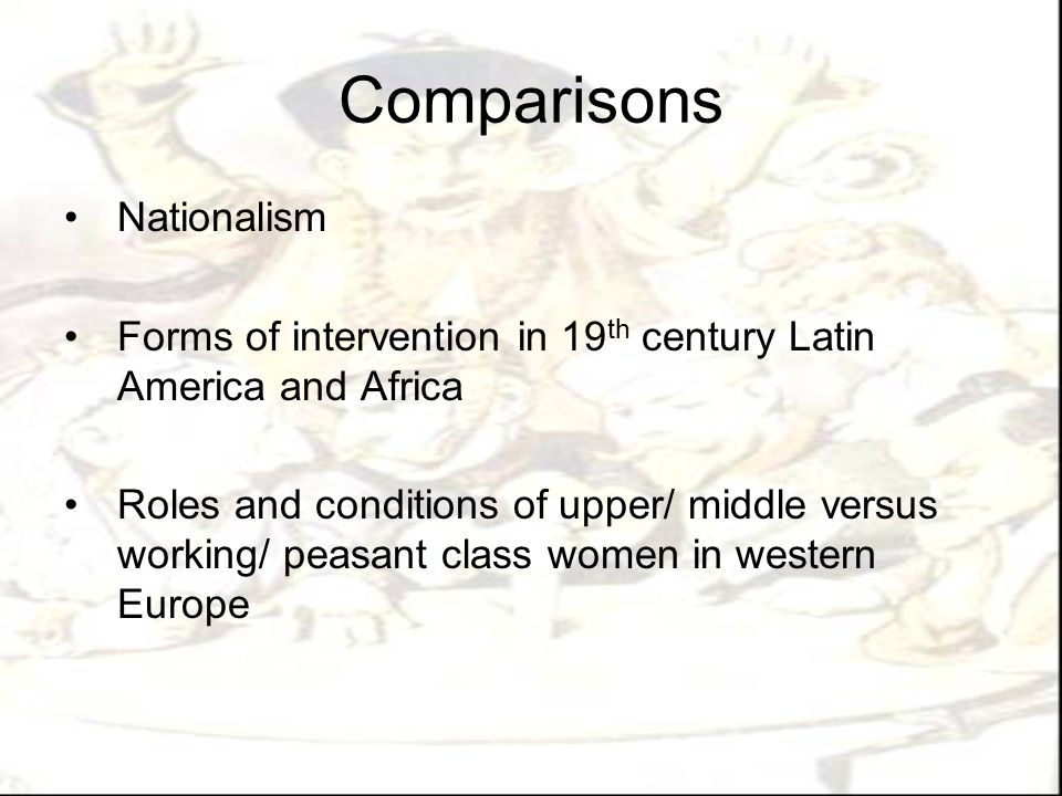 Comparisons Nationalism