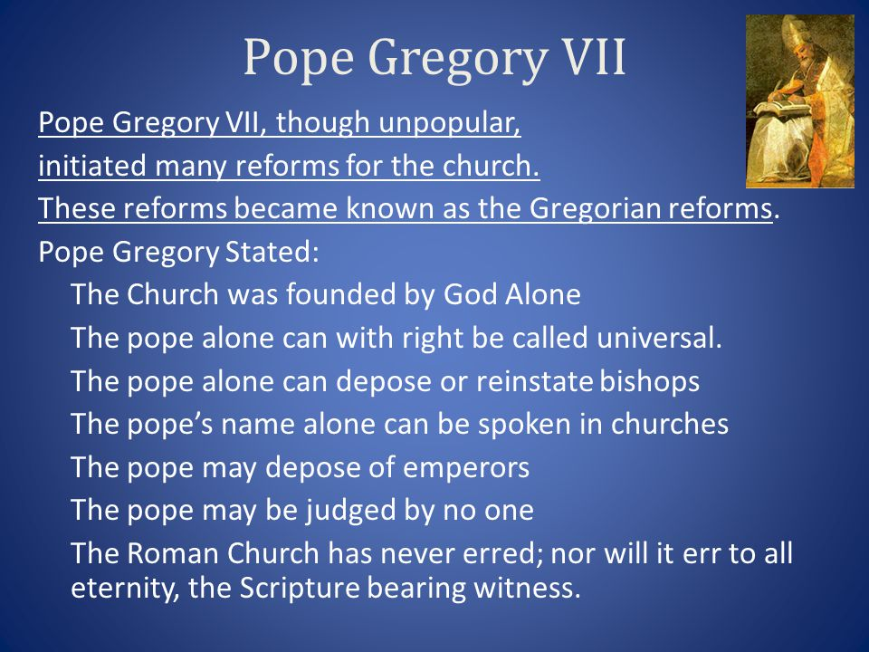 define pope gregory vii