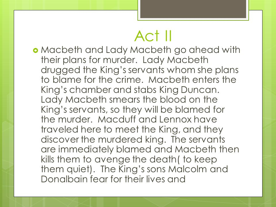 is lady macbeth responsible for king duncans death