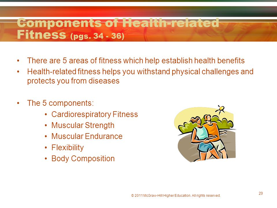 Components of Health-related Fitness (pgs. 34 - 36)