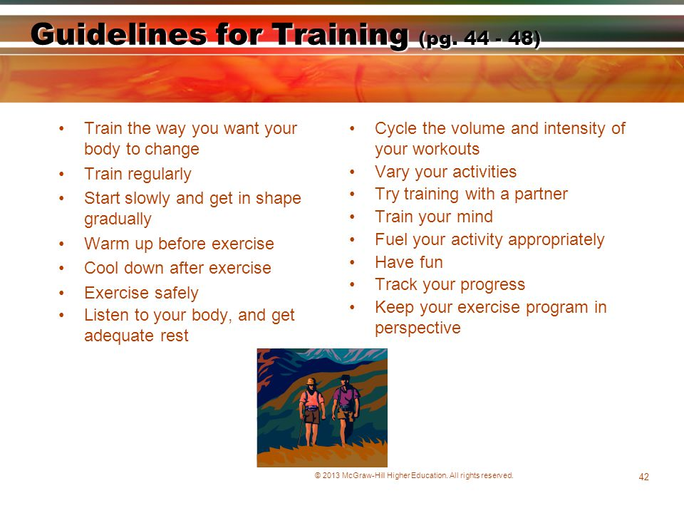 Guidelines for Training (pg. 44 - 48)
