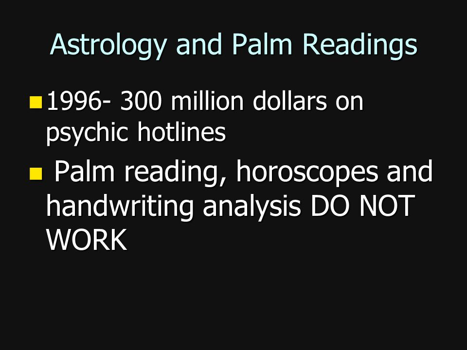 Astrology and Palm Readings